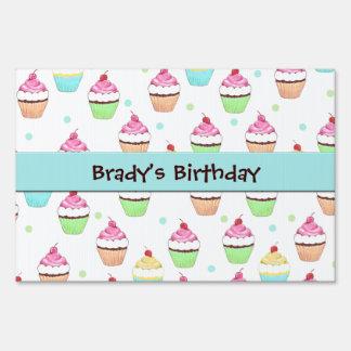 Cupcake Birthday Sign Sign