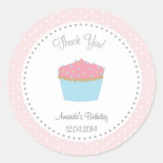 Cupcake Birthday Sticker