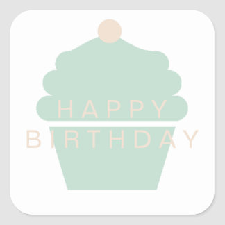 Cupcake Birthday Sticker