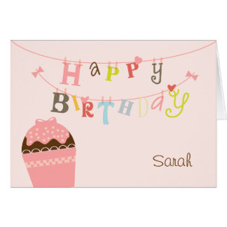 Cupcake Birthday String Card