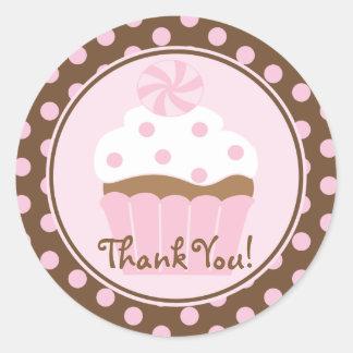Cupcake Birthday Thank You Sticker