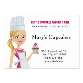 Cupcake Biz Card Blonde version 1 Large Business Cards (Pack Of 100)