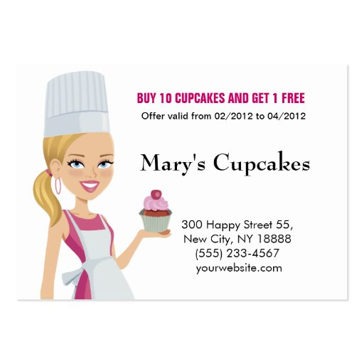 Cupcake Biz Card Blonde version 1 Business Card