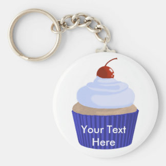 Cupcake-Blue on Blue Key Chains