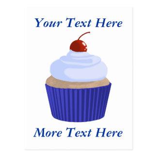 Cupcake-Blue on Blue Postcard