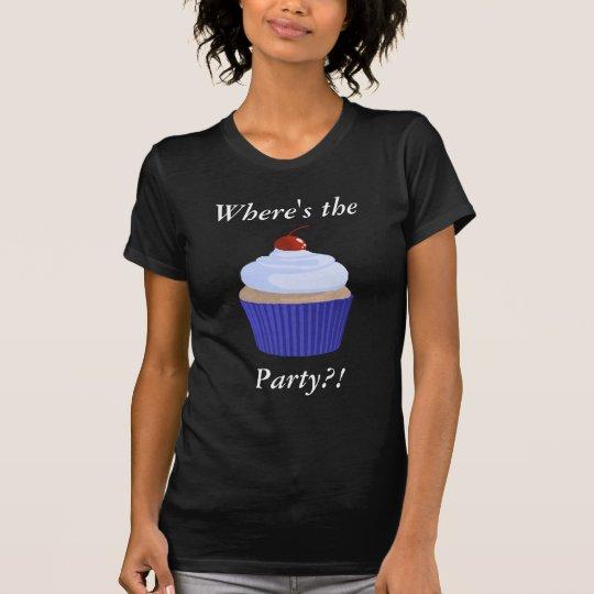 Cupcake-Blue on Blue T-Shirt