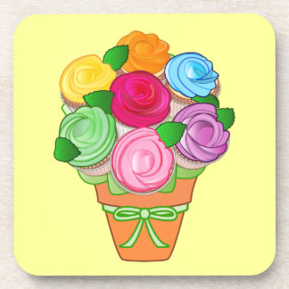 Cupcake Bouquet of Roses Beverage Coaster