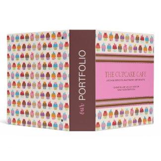 Cupcake Boutique Portfolio Binder binder