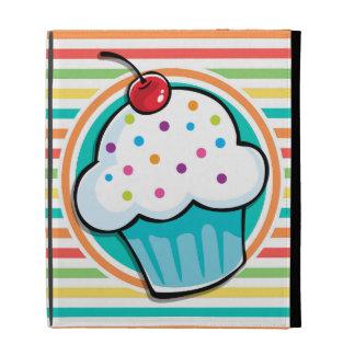 Cupcake Bright Rainbow Stripes iPad Case