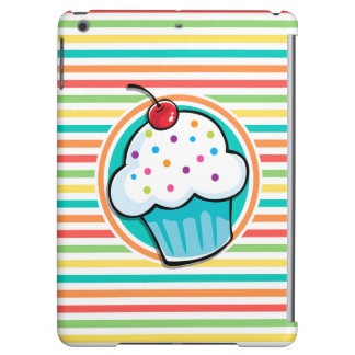 Cupcake Bright Rainbow Stripes Case For iPad Air