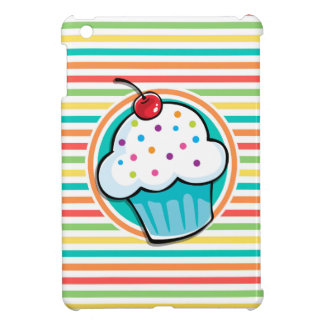 Cupcake Bright Rainbow Stripes iPad Mini Cover