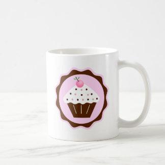 CUPCAKE BROWN & PINK COFFEE MUG