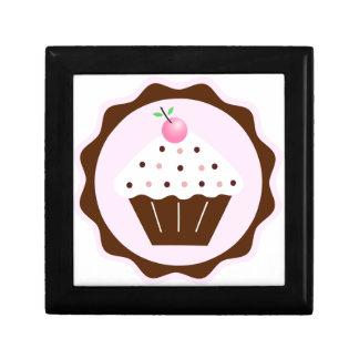 CUPCAKE BROWN & PINK JEWELRY BOX