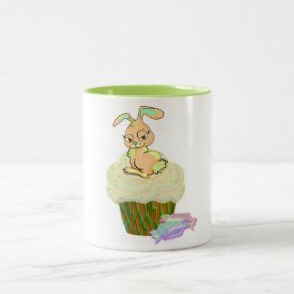 Cupcake Bunny Two-Tone Coffee Mug