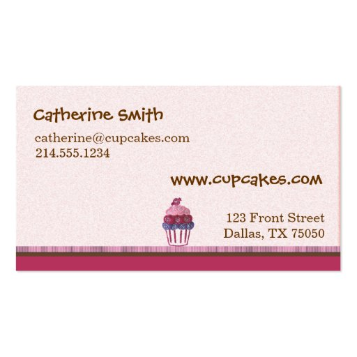 Cupcake Business Card (back side)