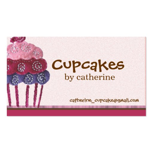 Cupcake Business Card (front side)