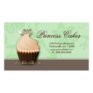 Cupcake Business Card Crown Mint Brown Cream
