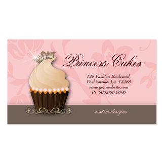 Cupcake Business Card Crown Pink Brown Cream