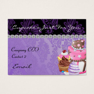 CUPCAKE  Business Card Diamond Damask