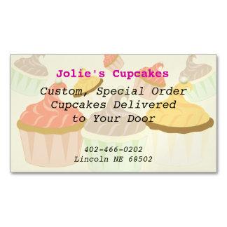 Cupcake Business Card Magnet