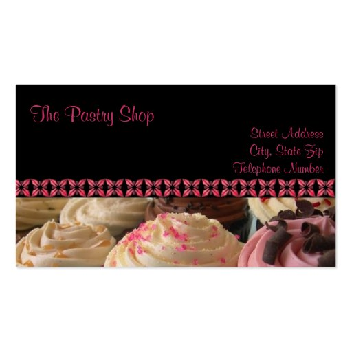 Cupcake business cards zazzle for Cupcake business card