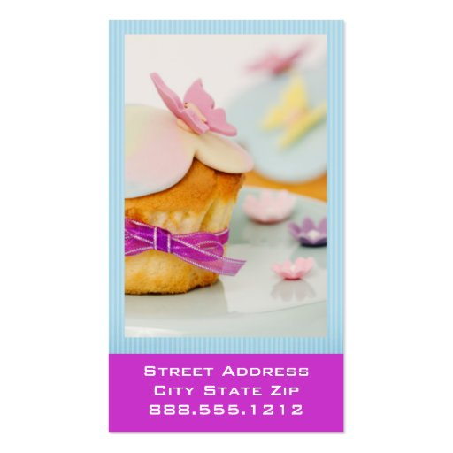Cupcake Business Cards (back side)