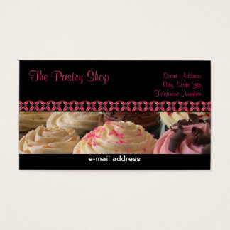 Cupcake Business Cards for BP Black Version