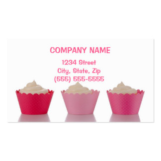 Cupcake Business Cards Tri Cups