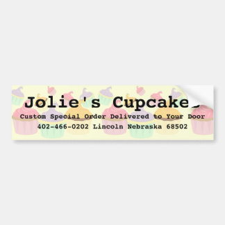 Cupcake Business Paper Products Bumper Sticker