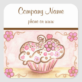 Cupcake Business Stickers