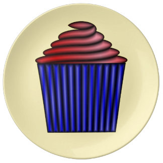 Cupcake by Kenneth Yoncich Dinner Plate