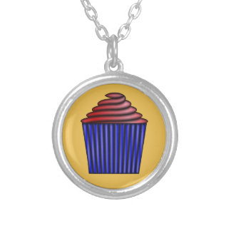 Cupcake by Kenneth Yoncich Silver Plated Necklace