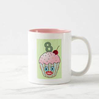 Cupcake Cake Birthday Pattern Face Eye Cute Eight Two-Tone Coffee Mug