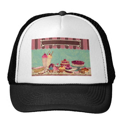 Cupcake Cake Party Sign Banner Trucker Hat