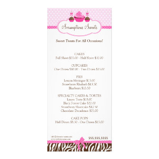 Cupcake Cake Pops Bakery Business Personalized Rack Card