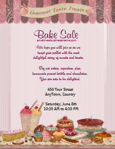 bake sale flyers zazzle