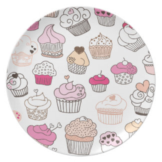 Cupcake candy birthday party serving plate