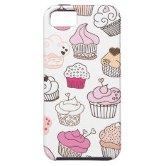 Cupcake Candy Pattern Vintage Iphone 5 Iphone Se/5/5s Case at Zazzle