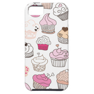 Cupcake candy pattern vintage iphone 5 iPhone SE/5/5s case