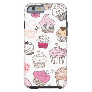 Cupcake candy pattern vintage iPhone 6 case