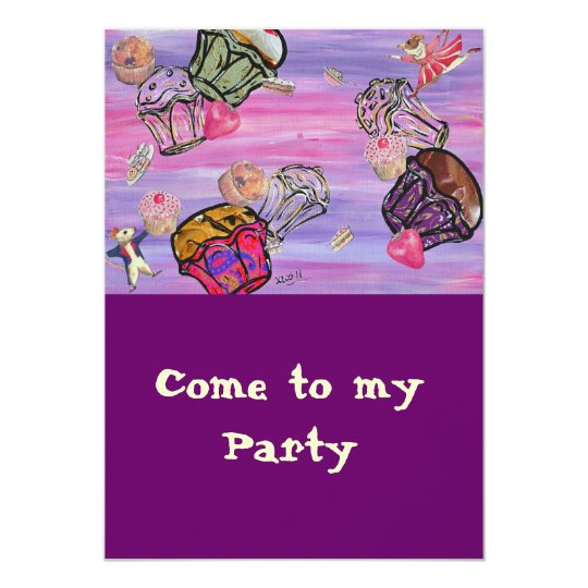 Cupcake Carnival Party Invitations