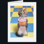 "cupcake cat birthday card<br><div class=""desc"">Cute as a cupcake birthday card.</div>"