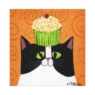 Cupcake Cat Canvas Print