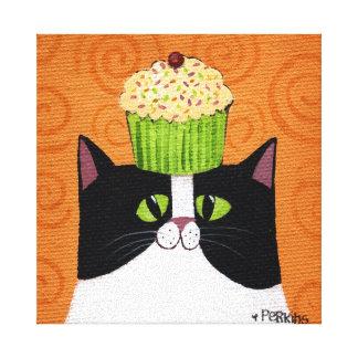 Cupcake Cat Gallery Wrap Canvas