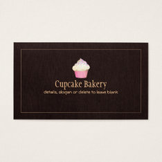 Cupcake Catering Bakery Pastry Chef Business Card at Zazzle