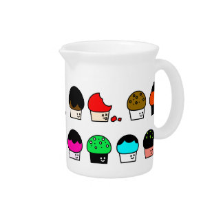 Cupcake Cavalcade – Colorful Repeating Pattern Drink Pitcher