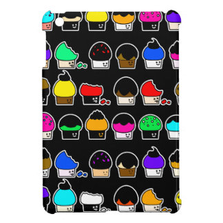 Cupcake Cavalcade – Colorful Repeating Pattern iPad Mini Cover
