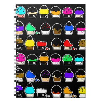 Cupcake Cavalcade – Colorful Repeating Pattern Notebook