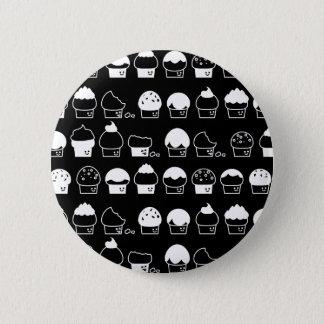 Cupcake Cavalcade – White Repeating Pattern Button