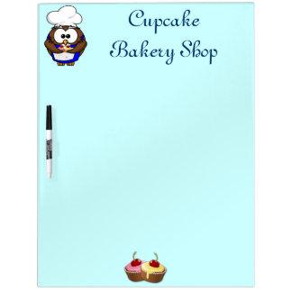 cupcake chef owl Dry-Erase board